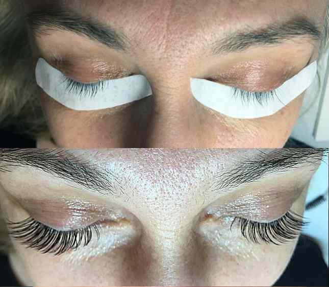 Designer Eyelash Extensions Before After Gallery