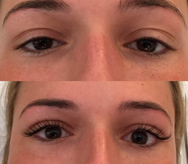 Designer Eyelash Extensions - Before & After Gallery